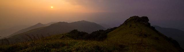 Evening view of Ranipuram Hills