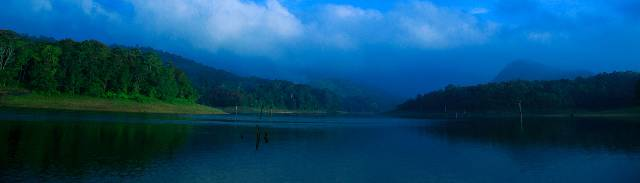 Thekkady lake as seen from Periyar Wildlife Sanctuary