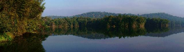 View of Parambikulam Reservoir
