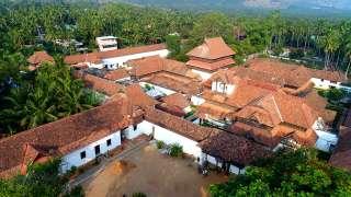 Aerial view of Padmanabhapuram Palace complex