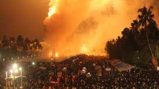 الألعاب النارية في أراتوبوزا بورام