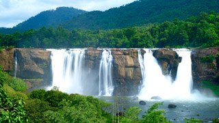 Athirappally Waterfalls in Thrissur