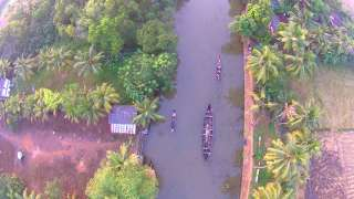 Bird's eye view of Ashtamudi