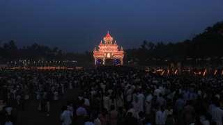 Evening view of Arattupuzha Pooram