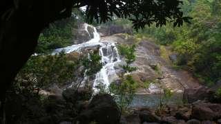Meenmutty falls in Thiruvananthapuram