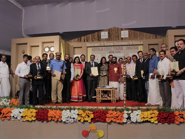 Winners along with Minister for Tourism, Kerala