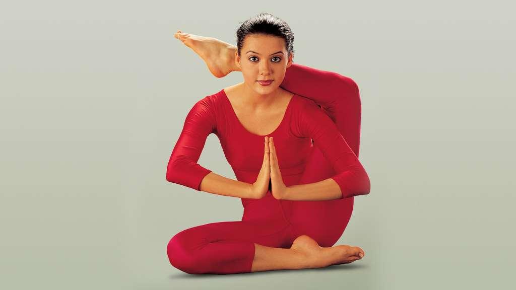 Eka Pada Sirshasana - The Leg over Shoulder Pose