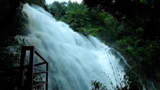 Alakapuri Waterfalls at Kanjirakolly