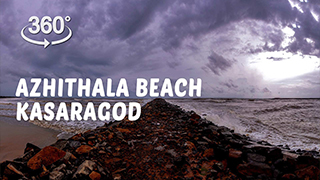Azhithala Beach, Kasaragod  | 360° Video