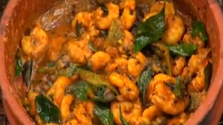 Chemmeen Kari or Prawns Curry
