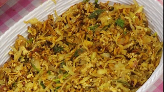 Dry Prawns with Cabbage