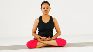 Padmasana - Variation in Chin Mudra