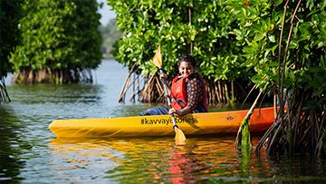 Kayaking at Kavayi