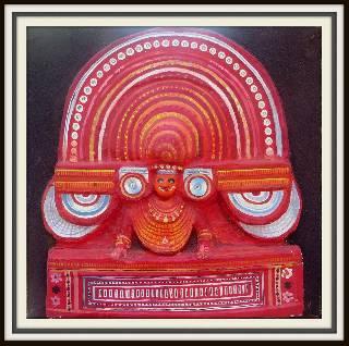 3D SAND ART PAINTING OF MUCHILOTU BHAGAVATHI