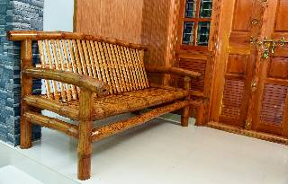 Bamboo Sofa 3 Seater