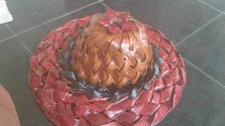Coconut leaf cap