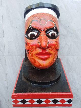 THEYYAM FACE- WOODEN