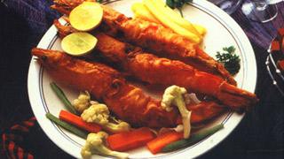 Golden Fried Prawns
