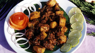 Pork with Kaya Ularthiyathu