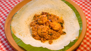 Appam and Prawns