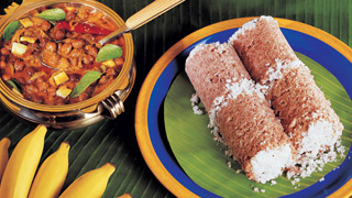 Chemba Puttu and Kadala Curry