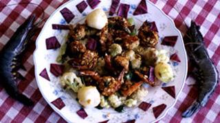 Stewed Vegetables with Prawns